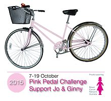 Pink Pedal Challenge 2015 - Support Jo and Ginny by pinkpedal