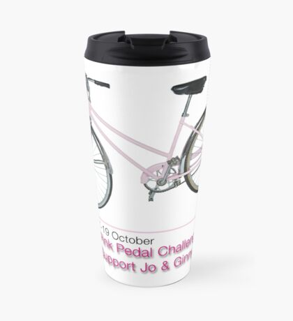Pink Pedal Challenge 2015 - Support Jo and Ginny Travel Mug