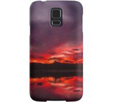 Fire and Water - Sunset at Regatta Waters Lake, Gold Coast Samsung Galaxy Case/Skin