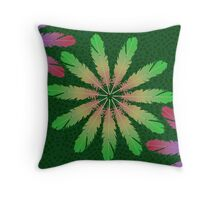 Feathering Floral Throw Pillow