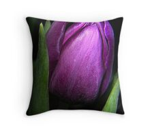 Purple Satin Throw Pillow