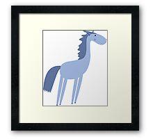 Cartoon horse Framed Print
