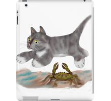 Leaping over a Blue Crab iPad Case/Skin