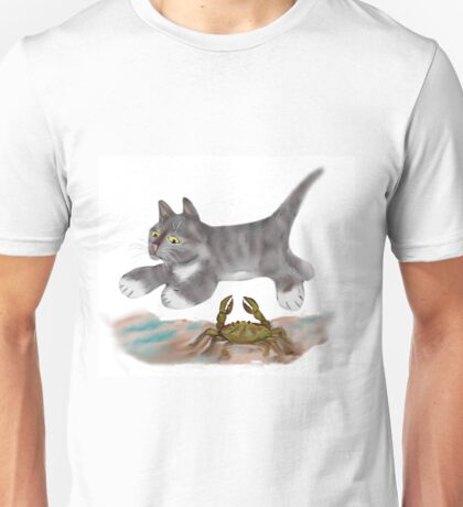 Leaping over a Blue Crab Unisex T-Shirt