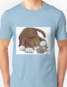 Hermit Crab and a Curious Cat T-Shirt