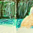 bathing woman (Fara) in natural setting by donnamalone