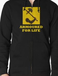 The might of Armour Zipped Hoodie