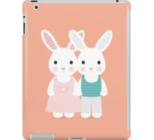 Cute rabbit love iPad Case/Skin
