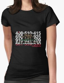 Bay Area Codes Womens Fitted T-Shirt