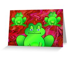 Froggies Greeting Card