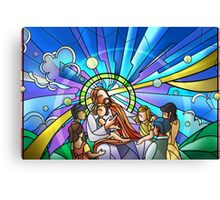 Jesus Suffer the Little Children Canvas Print