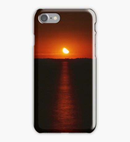 Red sunset over Lake Bonney iPhone Case/Skin