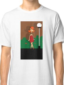 Girl next to a lamp post Classic T-Shirt