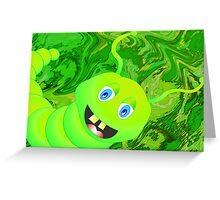 Happy-Caterpillar Greeting Card