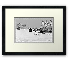 Thailand - the view from Ton Sai beach * Framed Print