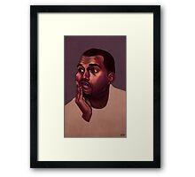 Kanye West Portrait Framed Print