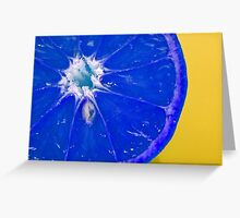 a zest of blue Greeting Card