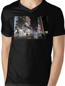 Ginza Streetscape, Chūō, Tokyo Mens V-Neck T-Shirt