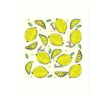 Lemons, Fresh Lemons Art Print