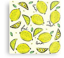 Lemons, Fresh Lemons Metal Print