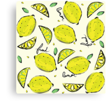 Lemons, Fresh Lemons Canvas Print