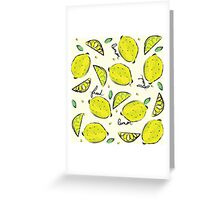 Lemons, Fresh Lemons Greeting Card