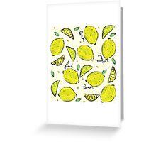 Lemons, Fresh Lemons Greeting Card