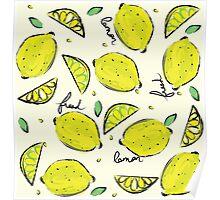 Lemons, Fresh Lemons Poster