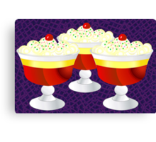 Who Loves Trifle? Canvas Print