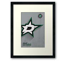 Dallas Stars Minimalist Print Framed Print