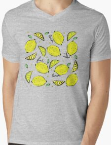 Lemons, Fresh Lemons Mens V-Neck T-Shirt