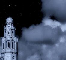 White Church in Moonlight by mliebenberg