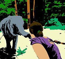 Elephant Popart by perkie173