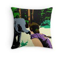 Elephant Popart Throw Pillow