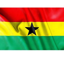 Ghana Flag Photographic Print