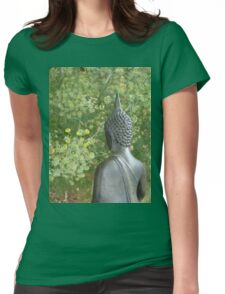 Budda in Nature  Womens Fitted T-Shirt