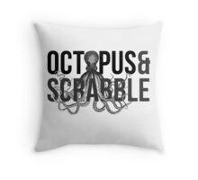 Gone Girl - Octopus And Scrabble Throw Pillow