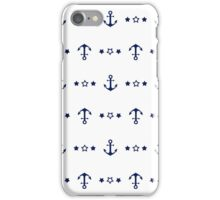 Anchors (White/Navy)  iPhone Case/Skin