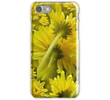 yellow floral world iPhone Case/Skin