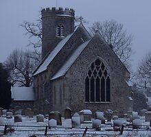 Weeting Church in Winter by sleza69
