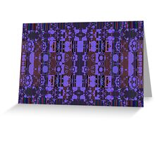 Purples and patterns Greeting Card