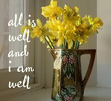 All is well, and I am well. by Jo Hilder