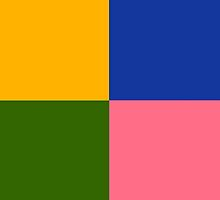 Yellow Green Blue Pink by waiting4urcall