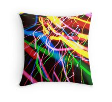 Light Painting with Jackson Pollock Throw Pillow