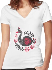 The Black Swan Women's Fitted V-Neck T-Shirt