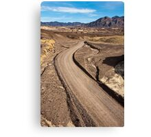 Dirt Road in Death Valley Canvas Print
