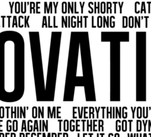 Lovatic All Songs Sticker