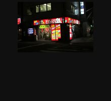Tokyo night street scene with lonely shop Unisex T-Shirt