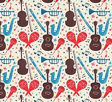 Music Instruments Pattern by haidishabrina