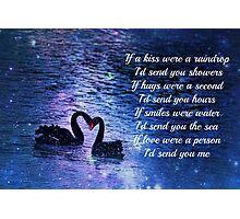 Love/Romance Greeting Card: Engagement, Wedding Photographic Print